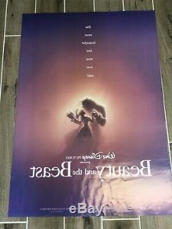 Affiche Originale Théâtrale Ds 27 X 40 Numérotée Ds Beauty And The Beast 1991 De Disney