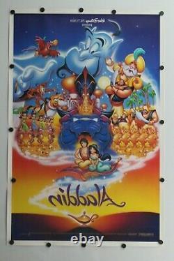 Aladdin 1992 Disney Double Sided Originale Affiche Du Film 27 X 41