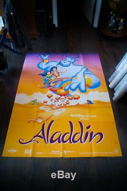 Aladdin Style B Walt Disney 4x6 Pieds Français Vintage Grande Affiche Du Film 1992