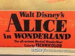 Alice Au Pays Des Merveilles Original 1951 - Carte Du Lobby Disney Peignant Les Roses En Rouge