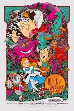 Alice In Wonderland Print Ken Taylor Mondo Oh My Disney Rare Sold Out /490