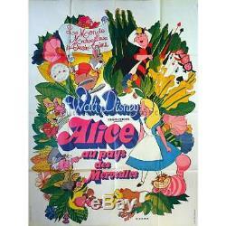 Alice Originale Affiche Du Film 47x63 Dans. R1970 Walt Disney, Ed