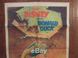 All In A Nutshell Originale Donald Duck 1sheet Affiche Du Film 1949 Walt Disney