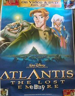 Atlantis L'empire Perdu 6'x4 '(2 Versions) Posters De Film Bus Walt Disney 2001