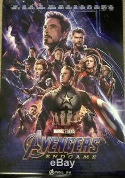 Avengers Endgame 27x40 Affiche Officielle Théâtrale Ds - Disney Marvel