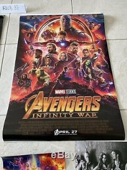 Avengers Infinity War Et Endgame Affiche Originale De Film 27x40 Ds Marvel Disney