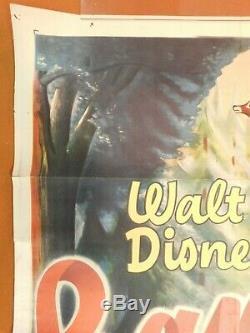 Bambi R-1948 Animation De Walt Disney Classic Movie 27x41 Poster Film Une Affiche
