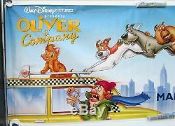 Bannière Originale De Cinéma De Advance, 1988, Disney Oliver And Company