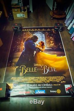 Beauty And The Beast Abri-bus De Walt Disney Abri-bus De 4 Mètres De Long Affiche De Film Originale 2017