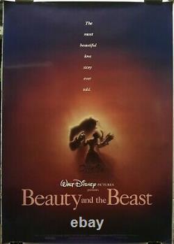 Beauty And The Beast Original Movie Poster 1991 Walt Disney Very Fine