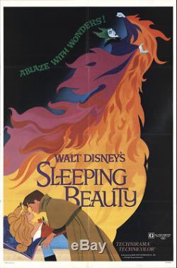 Belle Au Bois Dormant 1979 27x41 Orig Affiche De Film Fff-18587 Verna Felton Disney
