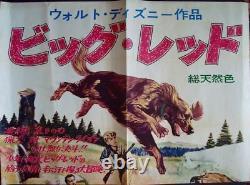 Big Red Japonais B0 Affiche De Film 40x57 Walt Disney 1962 Walter Pidgeon Très Rare