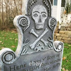 Billy Butcherson Hocus Pocus Disney Haunted Mansion Halloween Tombstone 36 Tall
