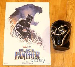 Black Panther El Capitan Poster Set D'impression Signé Marvel Disney Promo Dsf Dssh