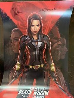 Black Widow D23 2019 Affiche Exclusive Expo Marvel Signée Du Parc Andy Par Disney