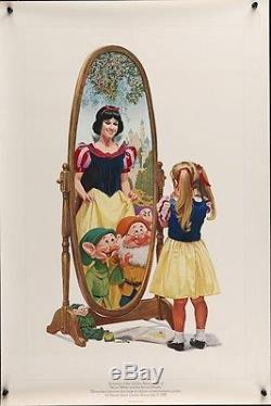 Blanche De Neige Et Les Sept Darnans Affiche Du 50e Anniversaire 1987 Walt Disney 20x30