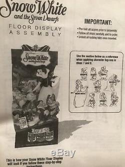 Blanche-neige Nouveau Vidéo Original Store Standee Display Disney