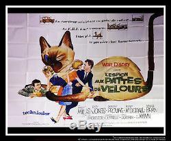 C'est Partir Du Chat Walt Disney Affiche Géante Originale De Panneau D'affichage Géant De 8 X 10 Pieds 1965