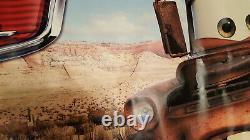 Cars Original Film / Jeu Vinyle Signe Bannière Disney Pixar Ford Chevy Rare