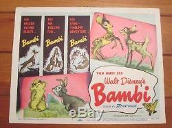 Carte De Titre Originale Bambi Walt Disney