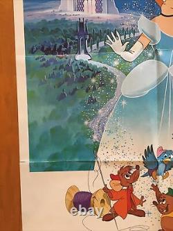 Cendrillon Original One Sheet Movie Poster 1981 Disney