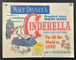 Cendrillon Titre Original Lobby Card Walt Disney 1950 Hollywood Posters