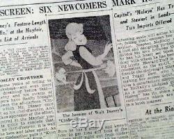 Cendrillon Walt Disney Movie Journée D'ouverture Et De Publicité Revue 1950 Journal