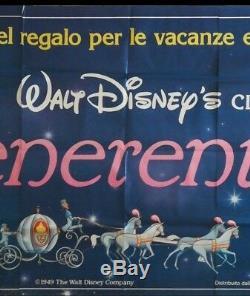 Cinderella Billboard Italienne Originale Affiche Du Film De Walt Disney Tres Rare