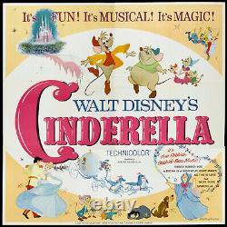 Cinderella Originale Grand 6 Feuilles / Six Feuilles De Film Disney Affiche