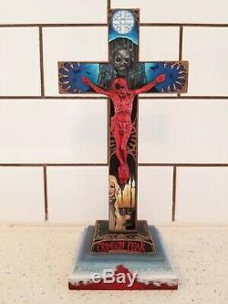 Crimson Peak Crucifix Peint À La Main Guillermo Del Toro Casseroles Labyrinthe Disney Art
