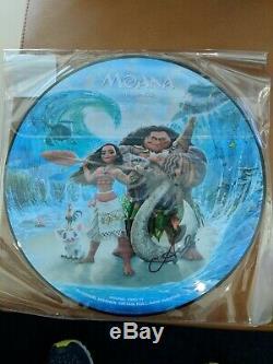 D23 2019 Disney Moana Les Chansons, Une Bande-son D'art En Vinyle, Signé Par Auli'i Cravalho