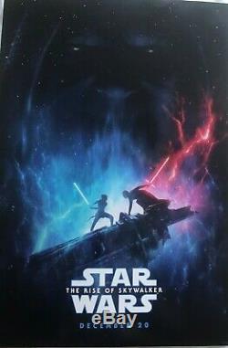 D23 Expo 2019 Affiche Officielle De Star Wars La Montée De Skywalker Disney Rare! 27x40