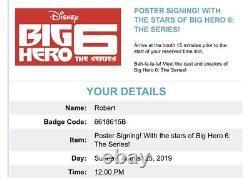 D23 Expo 2019 Disney Big Hero Six Série Cast Affiche Jamie Chung Signe Rare