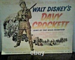 Davy Crockett King Of Wild Frontier Film (8 Lobby Card Set) 1955, Disney