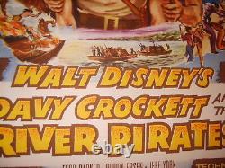 Davy Crockett The River Pirates 1956 Disney Original 27x41 Affiche De Film (468)
