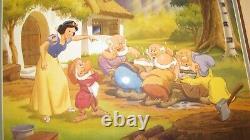 De Disney Original Snow White Dernier Appel Pour Le Dîner 1947 Litho 15,5 X 18,5
