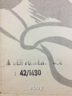 Der Fuehrer's Face Movie Poster One Sheet'42 Walt Disney Wwii Donald Duck
