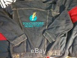 Disney 80 Touchtone Video Promo Veste XL Nmnt Rare Vintage Clean Exquis Htf