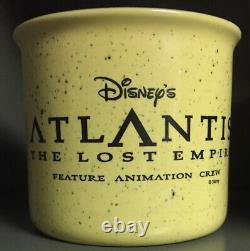 Disney Atlantis The Lost Empire Cast Feature Animation Crew Mug Cup Très Rare