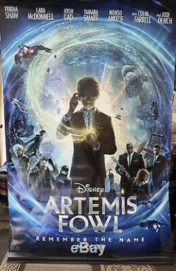 Disney / Black Widow Artemis Fowl 8ft X5ft Vinyle Salle De Cinéma Affiche De Bannière