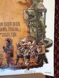 Disney Crochet Signé Affiche Artiste Drew Struzan Peter Pan Spielbrg Prop Authentic