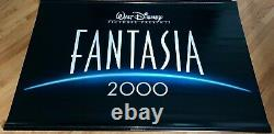 Disney Fantasia 2000 Rare Org. Lobby Bannière Mickey Mouse Apprenti Sorcier