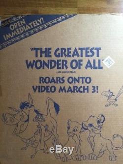 Disney Le Roi Lion Film Standee (rare, Affichage) Vintage 1995 Nouveau Dans La Boîte 5