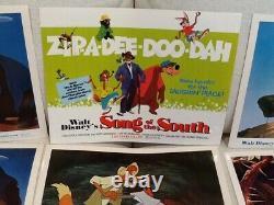 Disney Lobby Carte Ensemble Complet De 9 Song Of The South