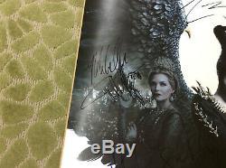 Disney Maléfique Ds Affiche Du Film 27x40 Cast Signe Angelina Jolie Autographes