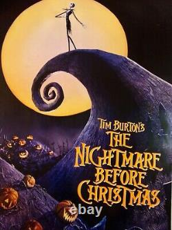 Disney Nightmare Avant Christmas Affiche De Cinéma Originale Theater-used 27x40 Ds C6