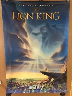 Disney Originale Roi Lion Une Feuille Affiche Du Film Double Face Rolled 1994