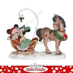 Disney Precious Moments Merry Kiss-mlle Porcelaine Bisque Rare Figurine