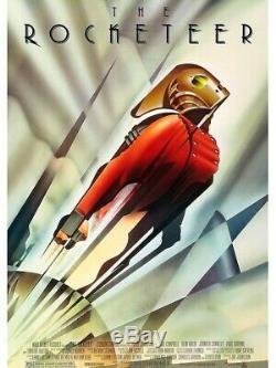 Disney Rocketeer 1991 Original Ds 2 Faces 27x40 Us Affiche Du Film Bill Campbell