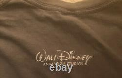 Disney Tangled Animation Crew Marketing Publicité T-shirt Double Sided Rare